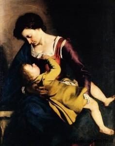 Caravaggio - Madonna con Bambino