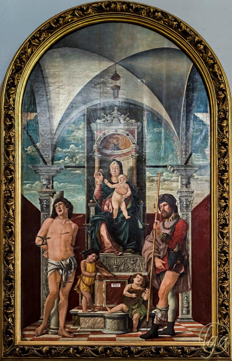 Duomo (Treviso) - interior - Madonna of the Flower Girolamo da Treviso