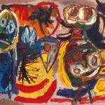People, Birds and Sun 1954 Karel Appel 1921-2006 Purchased 1986 http://www.tate.org.uk/art/work/T04163