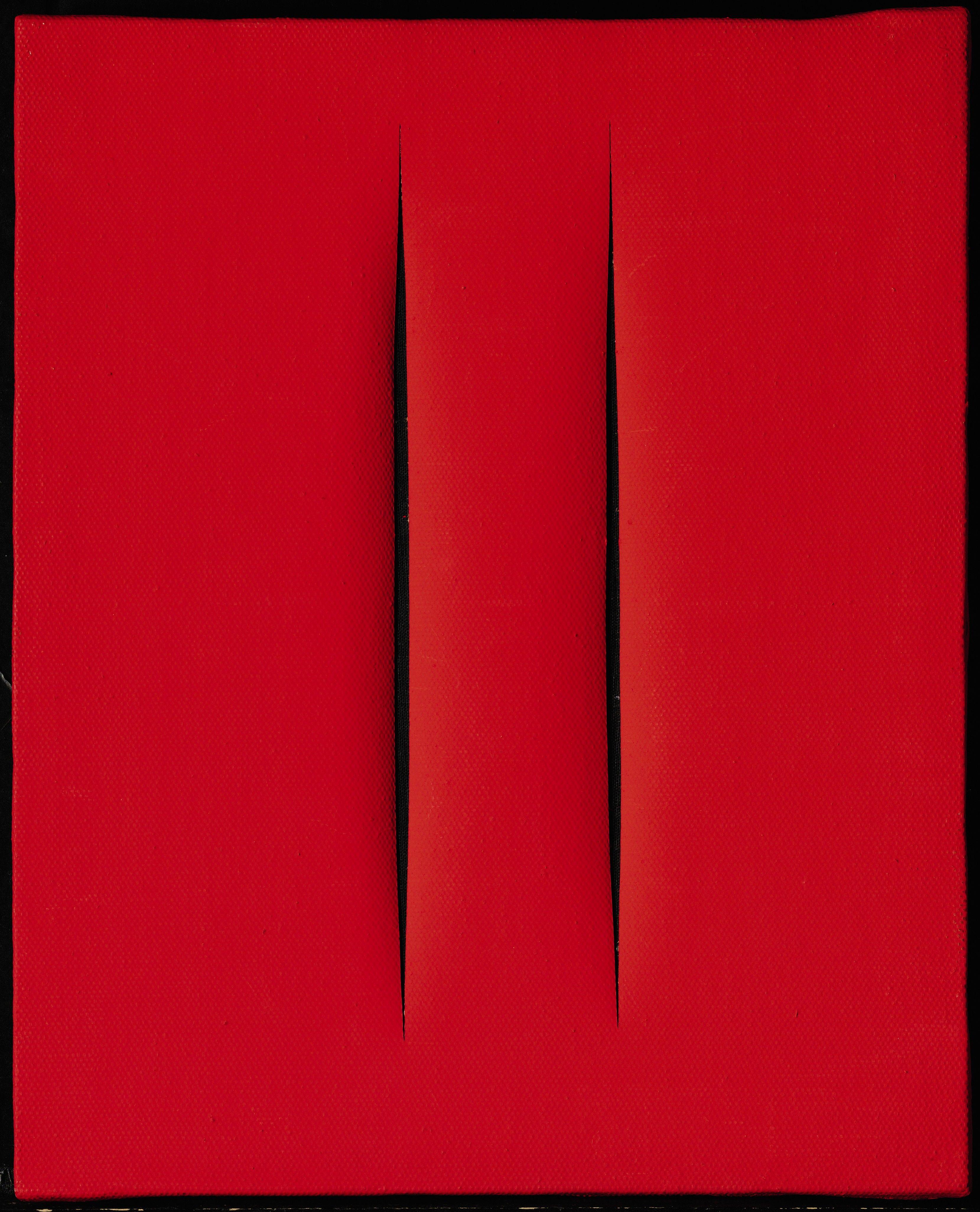 lucio-fontana-concetto-spaziale-rosso-attese